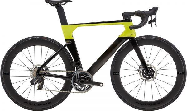 Cannondale SystemSix Hi-MOD Red eTap AXS Road Bike 2021 (Black/Yellow)