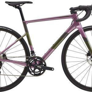 Cannondale SuperSix EVO Carbon Disc 105 Womens Road Bike 2021 (Purple/Black)