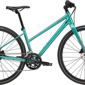 Cannondale Quick Disc 3 Remixte Altus Womens City Bike 2021 (Blue)