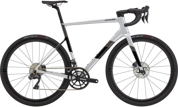 Cannondale SuperSix EVO Carbon Disc Ultegra Di2 Road Bike 2021 (Silver/Black)