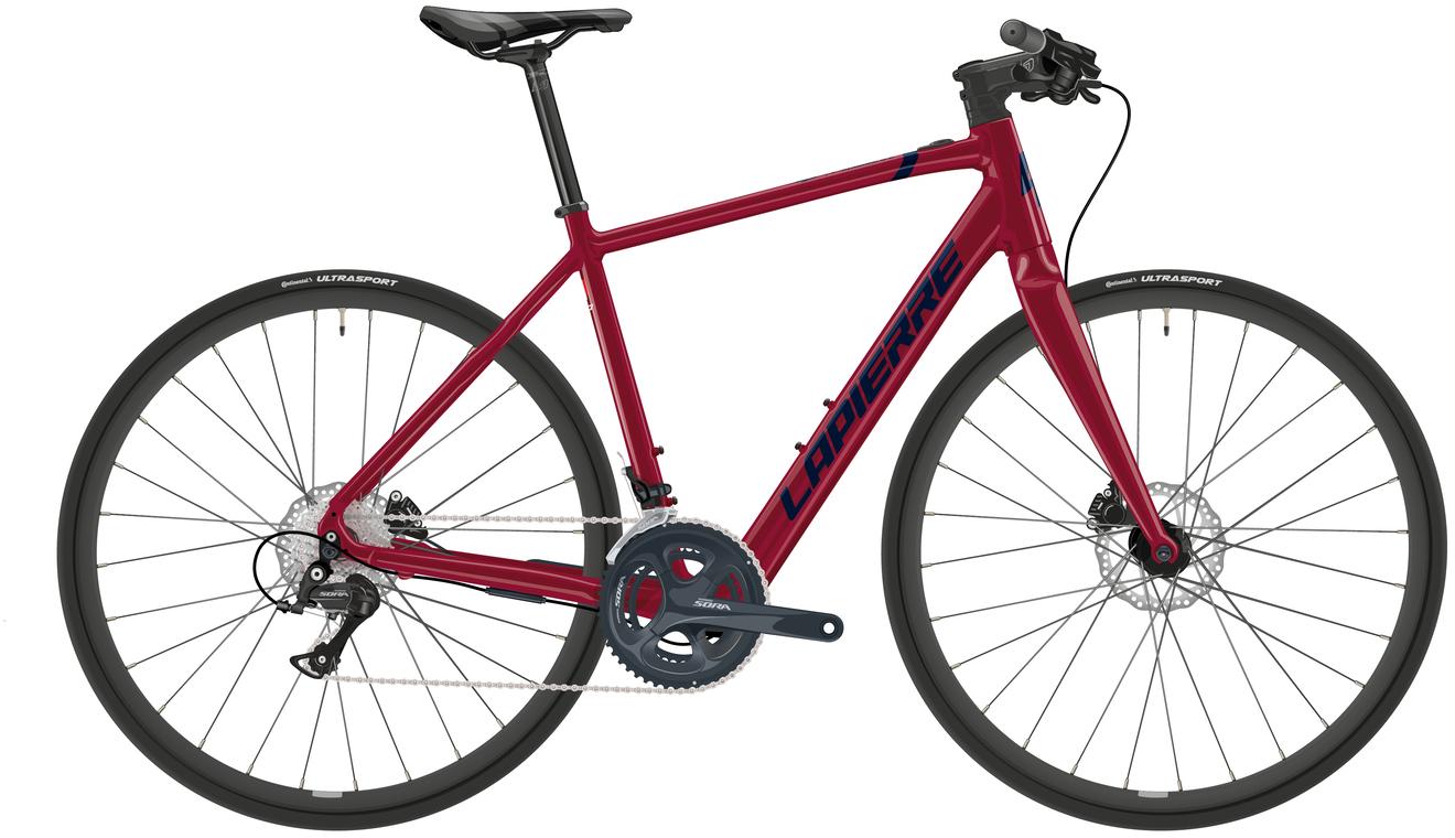 Lapierre eSensium 2.2 Flat Electric Road Bike 2021 (Red/Black)