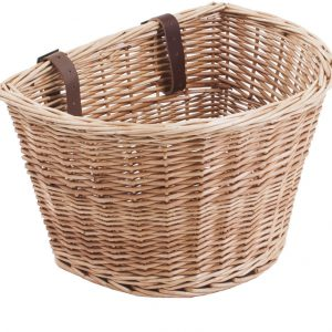 Basket wicker, D shape with straps